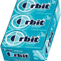 Orbit Wintermint Sugarfree Gum, 14 Piece Packages (Pack of 24)