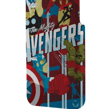 Best 3D Full Wrap Phone Case - Hard (PC) Cover with The Avengers Retro Poster Design
