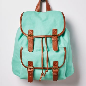 Minty Double Buckled Mini Backpack