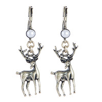 Newest Vintage Antelope Earrings Animal Pendant Jewelry Deer Jewelry Costume Statement Earrings