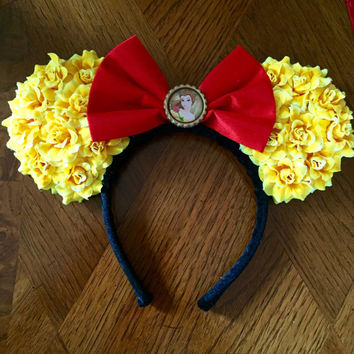 Belle Themed Minnie Ears