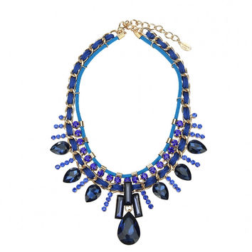 Royal Blue Layered Necklace