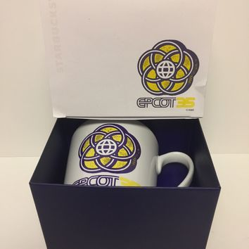 Disney Parks 35th Epcot Starbucks Coffee Mug Limited New with Box