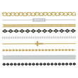 Metallic Band Temporary Tattoos Multi One Size For Women 24913495701