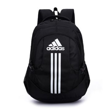 """Adidas"" Simple Stripe School Backpack Travel Daypack Lightweight Shoulder Bag"
