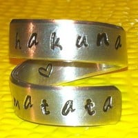 Hakuna Matata - Adjustable Twist Aluminum Ring - Style C