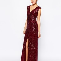 New Look Sequin Front Maxi Dress