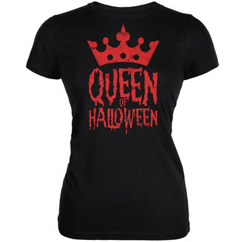 Halloween Queen Of Halloween Black Juniors Soft T-Shirt