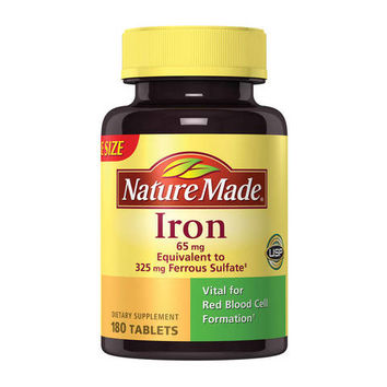 Nature Made Iron Dietary Supplement Tablets - 180ct