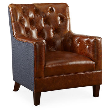 Hartford Tufted Chair, Brompton/Navy, Club Chairs