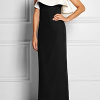 Alexander McQueen|Embellished crepe and silk-satin gown|NET-A-PORTER.COM