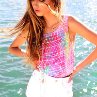 Multicolour Tile Top | SABO SKIRT