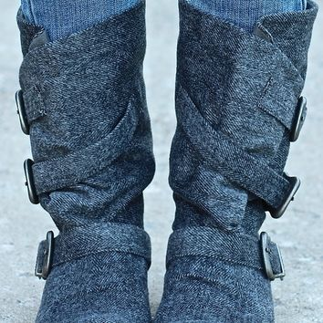 Swiss Alps Blowfish Boots (Herringbone Grey)