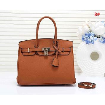 Hermes Fashion New Leather Shopping Leisure Handbag Shoulder Bag Women Two Piece Bag 8#