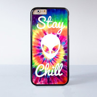Stay Chill Alien Plastic Case Cover for Apple iPhone 4 4s 5 5s 5c 6 6s Plus
