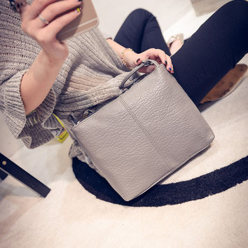 Stylish Korean Soft Rinsed Denim One Shoulder Bags [6582450311]
