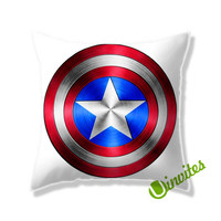 Captain America Shield Square Pillow Cover