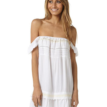 AUGUSTE DESERT SUN WOMENS MINI PLAY DRESS - WHITE