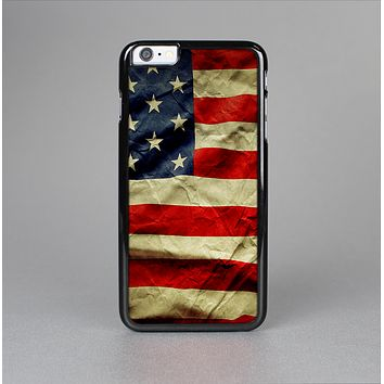 The Dark Wrinkled American Flag Skin-Sert Case for the Apple iPhone 6 Plus
