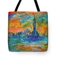 Paris Edge Tote Bag