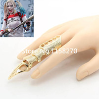 Suicide Squad Batman Harley Quinn Cosplay Golden Bone Ring