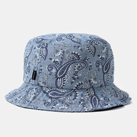 The Quiet Life Paisley Bucket Hat - Light Blue at Urban Industry
